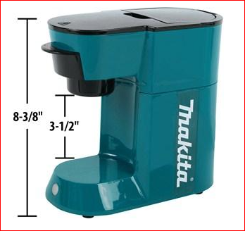 height and width of makita coffee machine